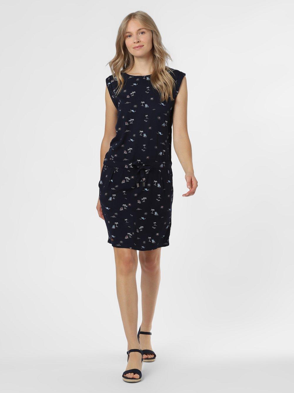 Ragwear – Sukienka damska – Mascarpone, niebieski Van Graaf 475051-0001-09940