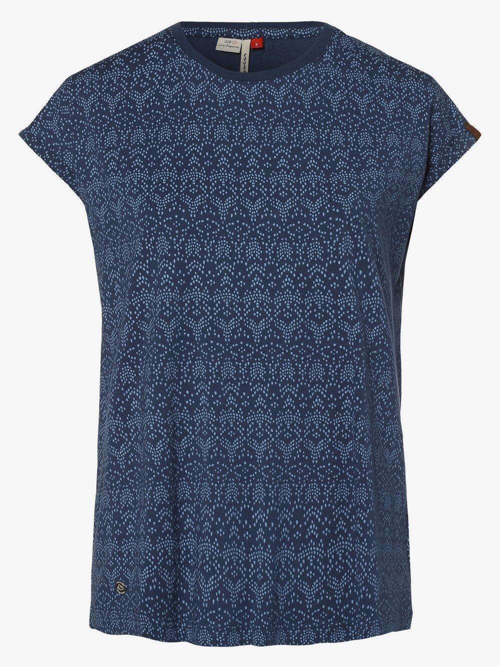 Ragwear – T-shirt damski – Dione, niebieski Van Graaf 475072-0002-09900