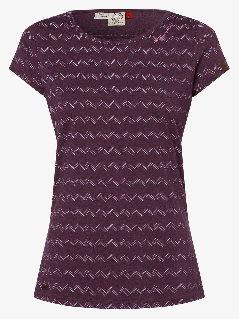 Ragwear – T-shirt damski, lila Van Graaf 475073-0002