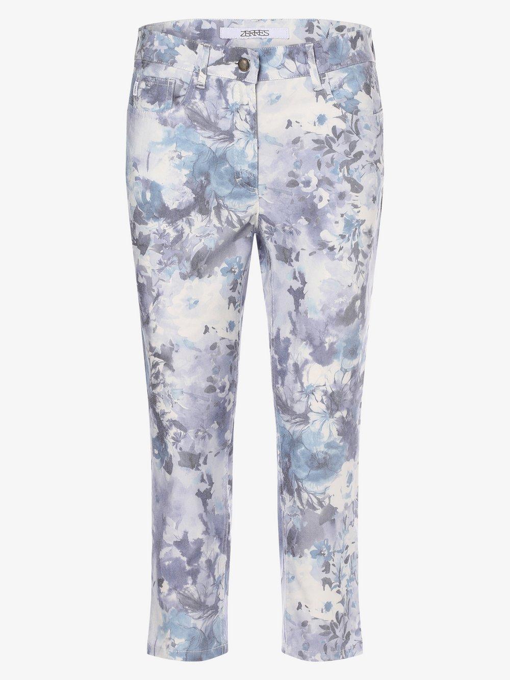 Zerres – Spodnie damskie, niebieski Van Graaf 475077-0001