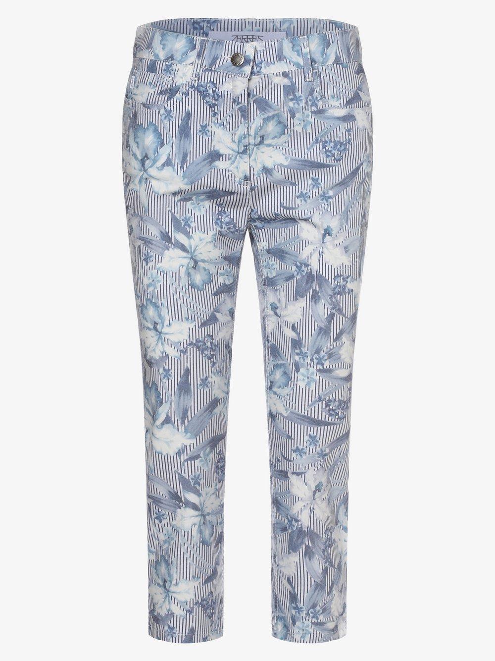 Zerres – Spodnie damskie – Cora, niebieski Van Graaf 475078-0001-00420