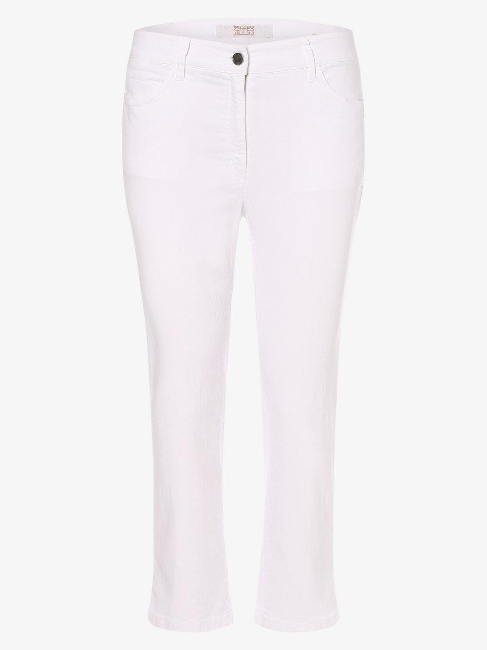 Zerres – Spodnie damskie – Cora, biały Van Graaf 475079-0001