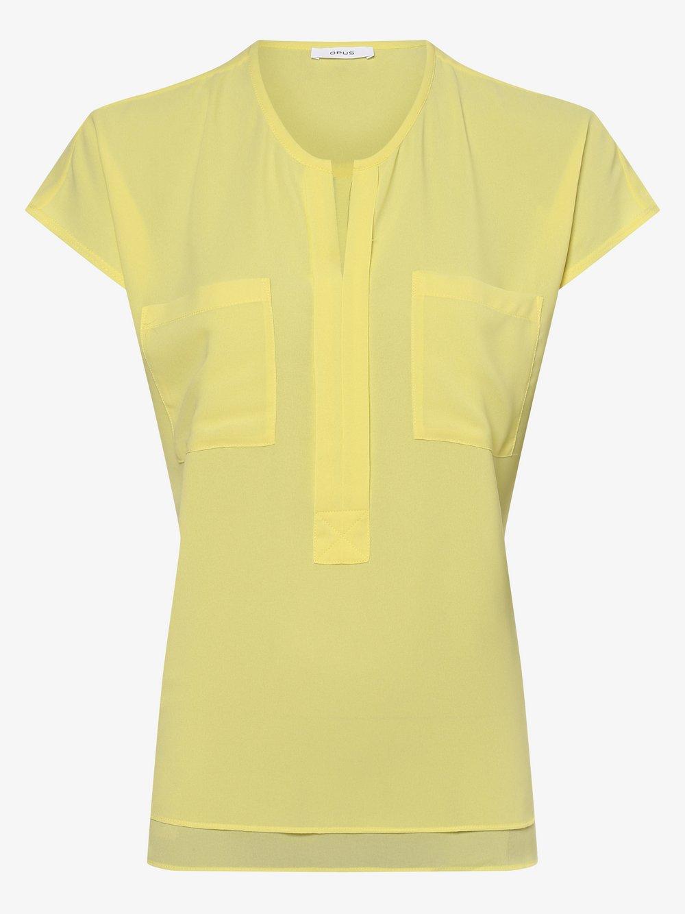 Opus – Bluzka damska – Flusi, żółty Van Graaf 475159-0002-00380