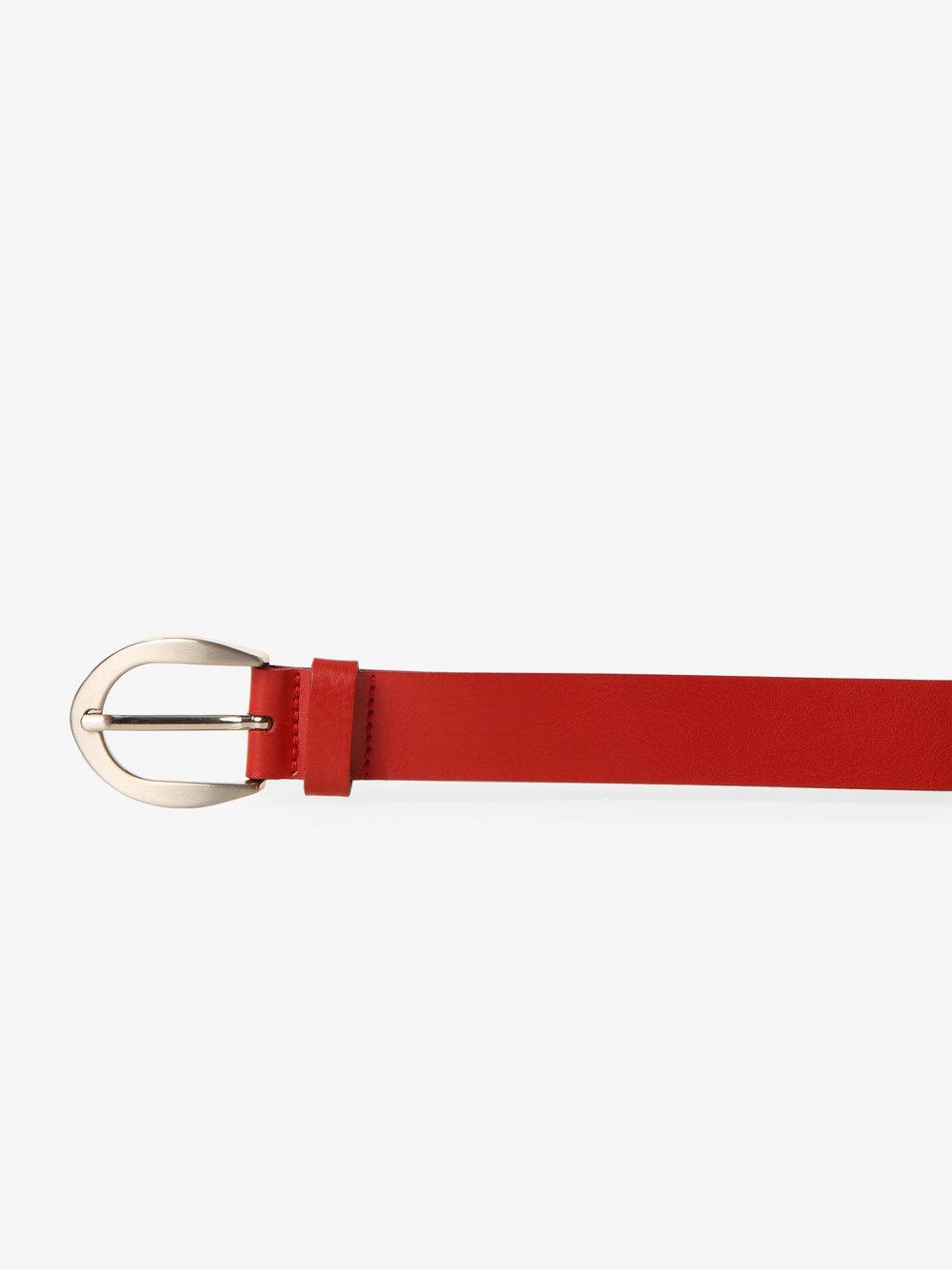 Vanzetti - Damski pasek skórzany, czerwony