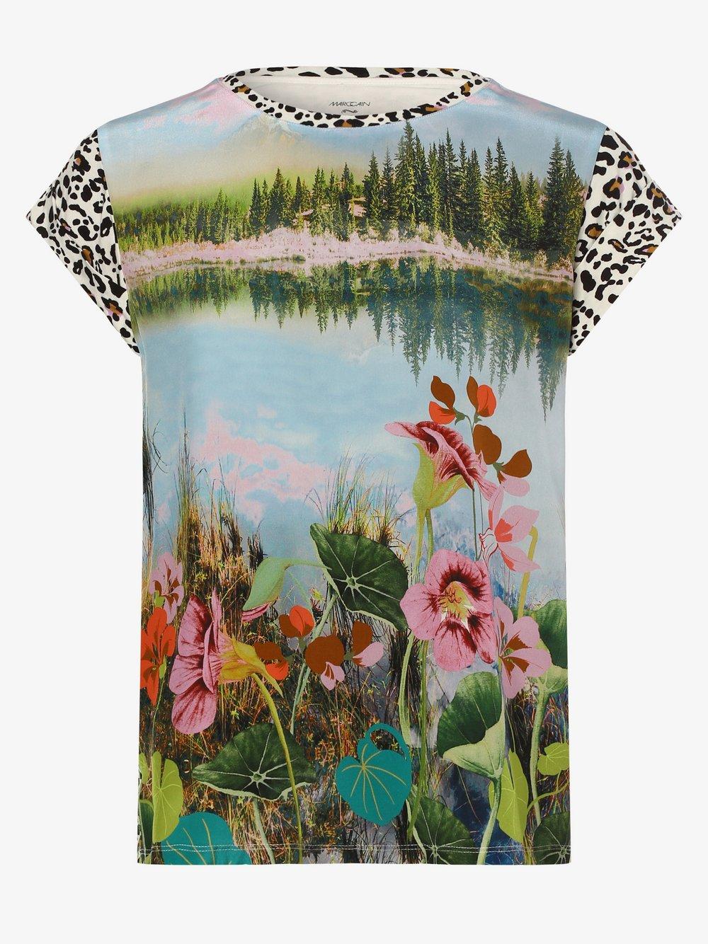 Marc Cain Collections – Koszulka damska z dodatkiem jedwabiu, zielony Van Graaf 475513-0001-00360