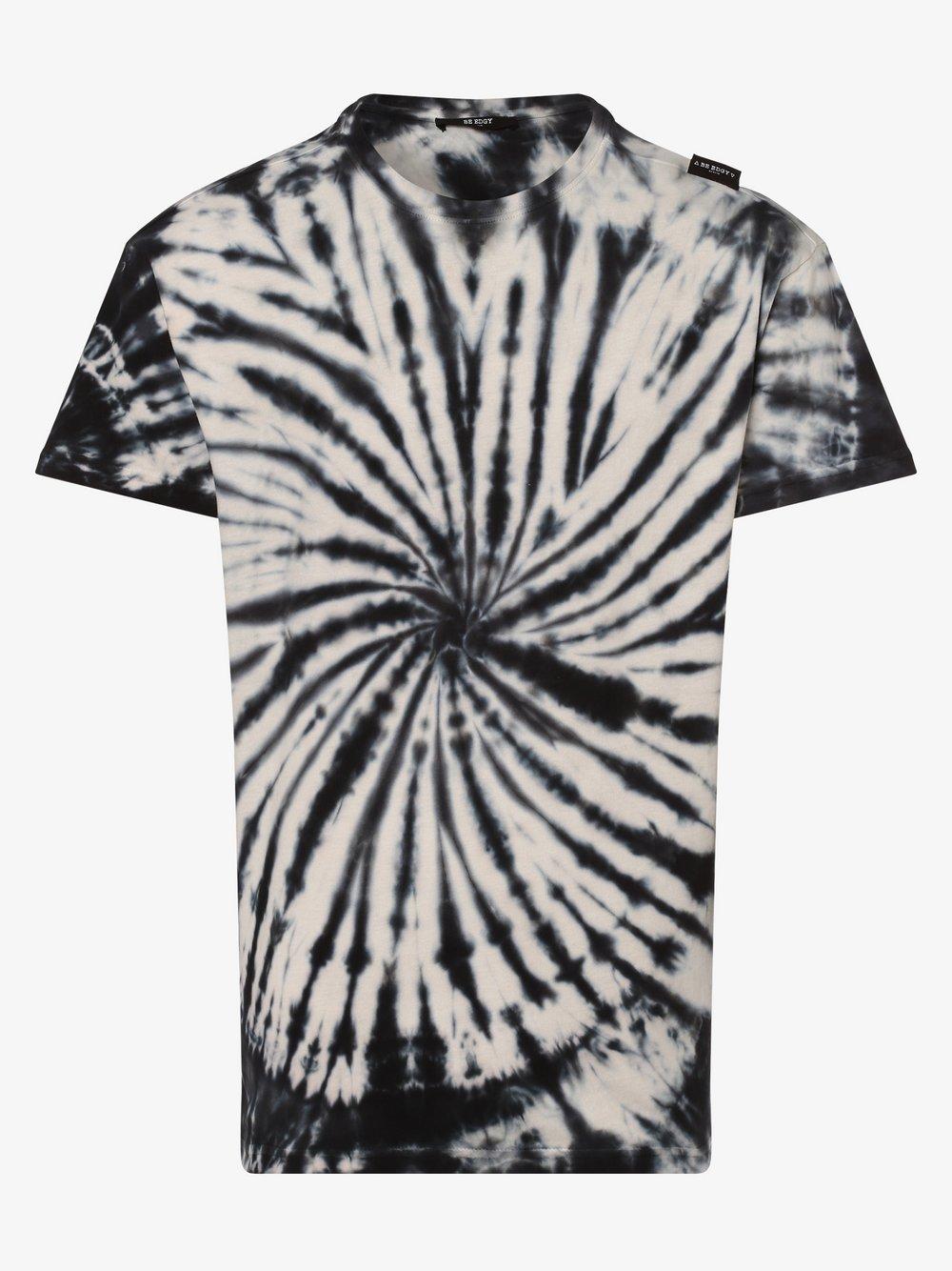 BE EDGY – T-shirt męski – BEgiggsen, biały Van Graaf 475730-0001-09990