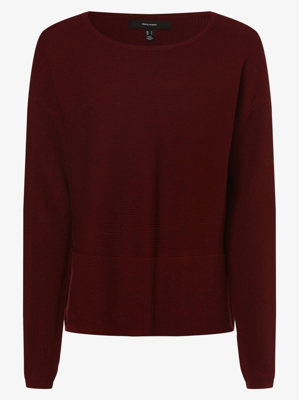 Vero Moda - Sweter damski – VMNatascha, czerwony