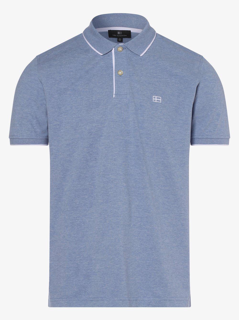 Nils Sundström - Męska koszulka polo, niebieski