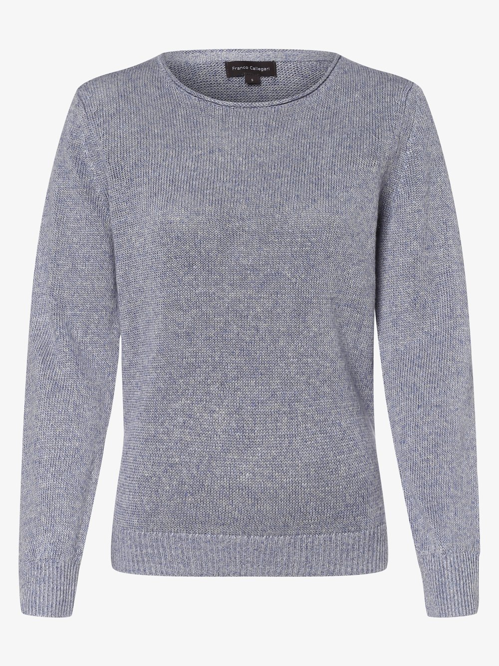 Franco Callegari - Damski sweter lniany, niebieski