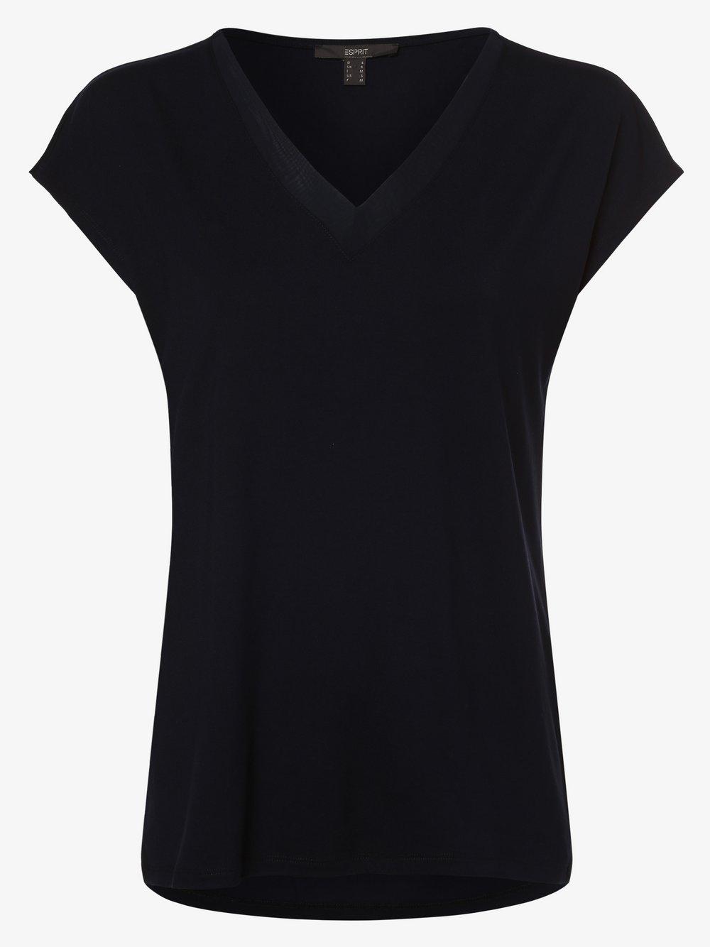 Esprit Collection – Koszulka damska, niebieski Van Graaf 476652-0003-09900