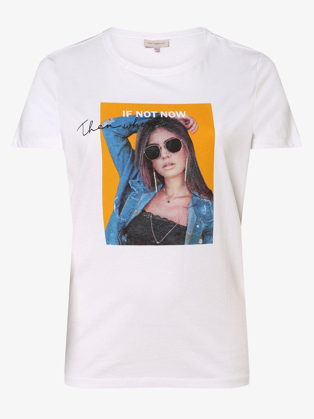 ONLY Carmakoma – T-shirt damski – Carsilence, biały Van Graaf 476719-0001