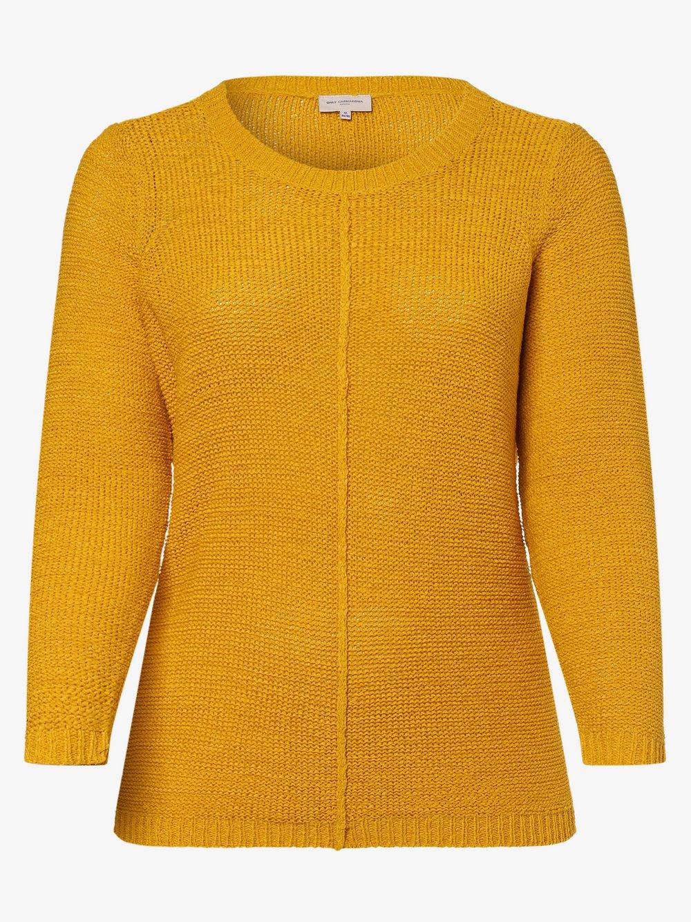 ONLY Carmakoma – Sweter damski – Carfoxy, złoty Van Graaf 476878-0001