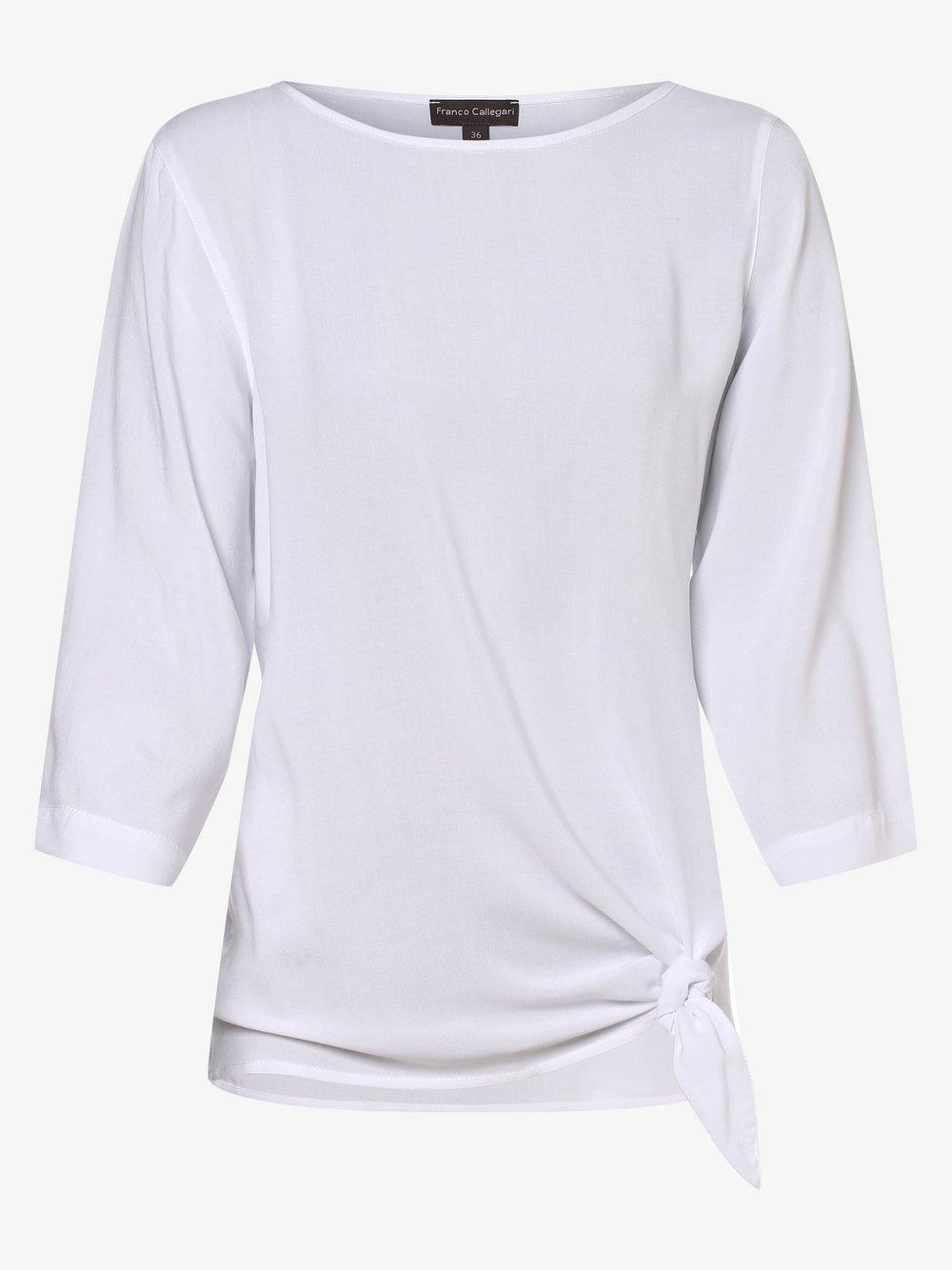 Franco Callegari – Bluzka damska, biały Van Graaf 476883-0001-00440