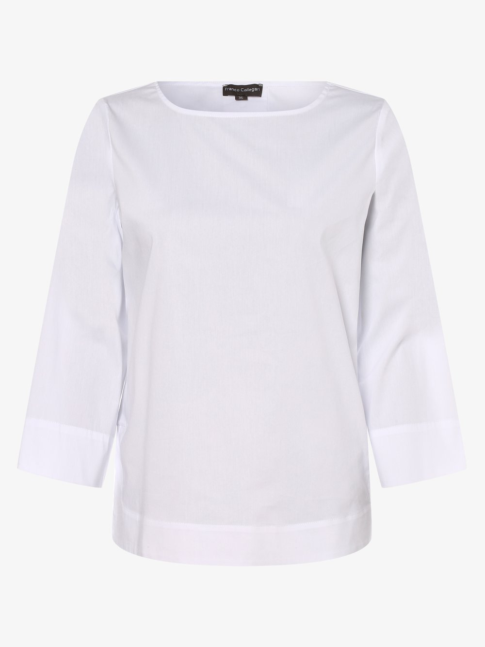 Franco Callegari – Bluzka damska, biały Van Graaf 476888-0001-00460