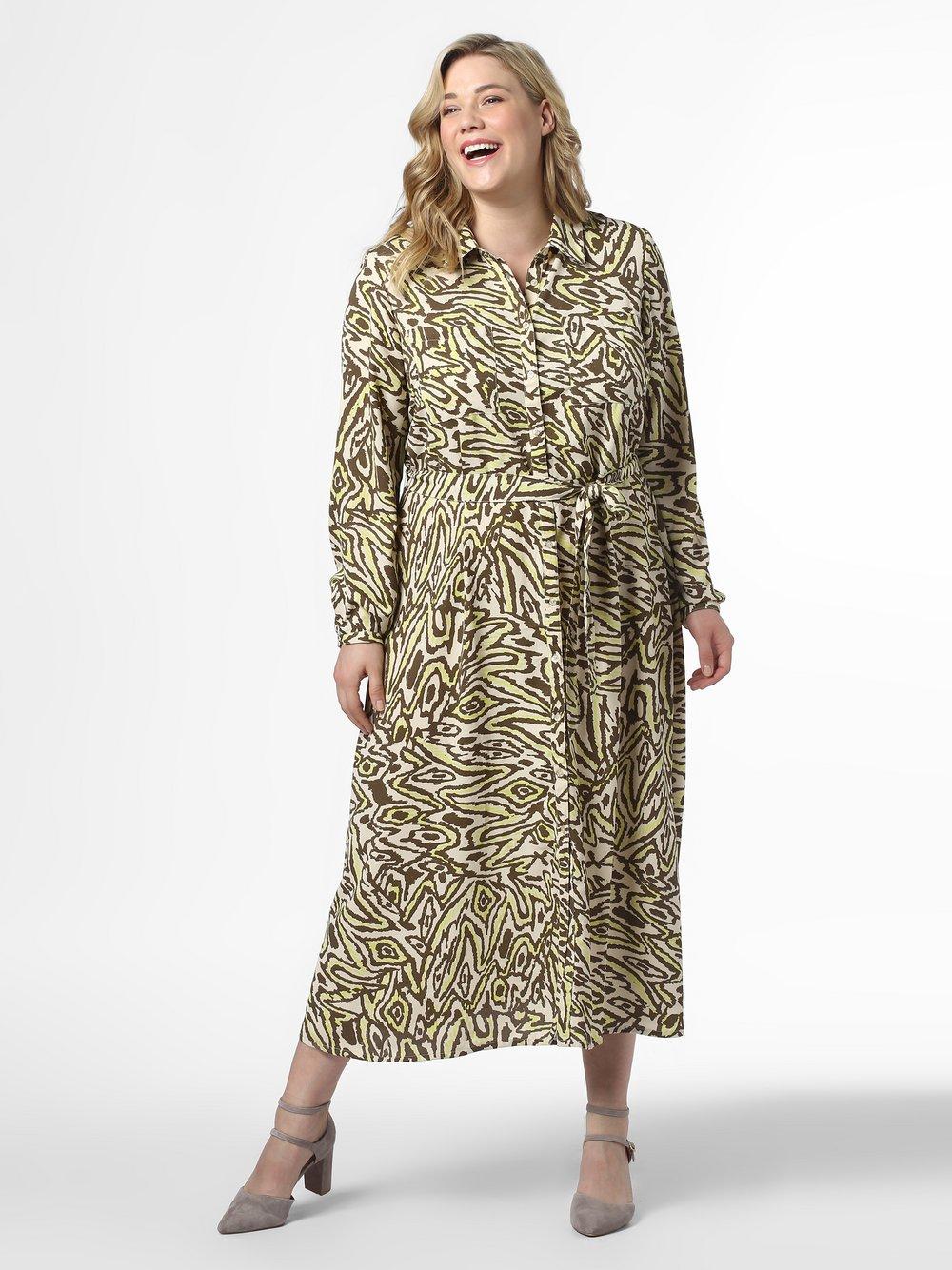 ONLY Carmakoma – Sukienka damska – Cartriple, beżowy Van Graaf 476898-0001
