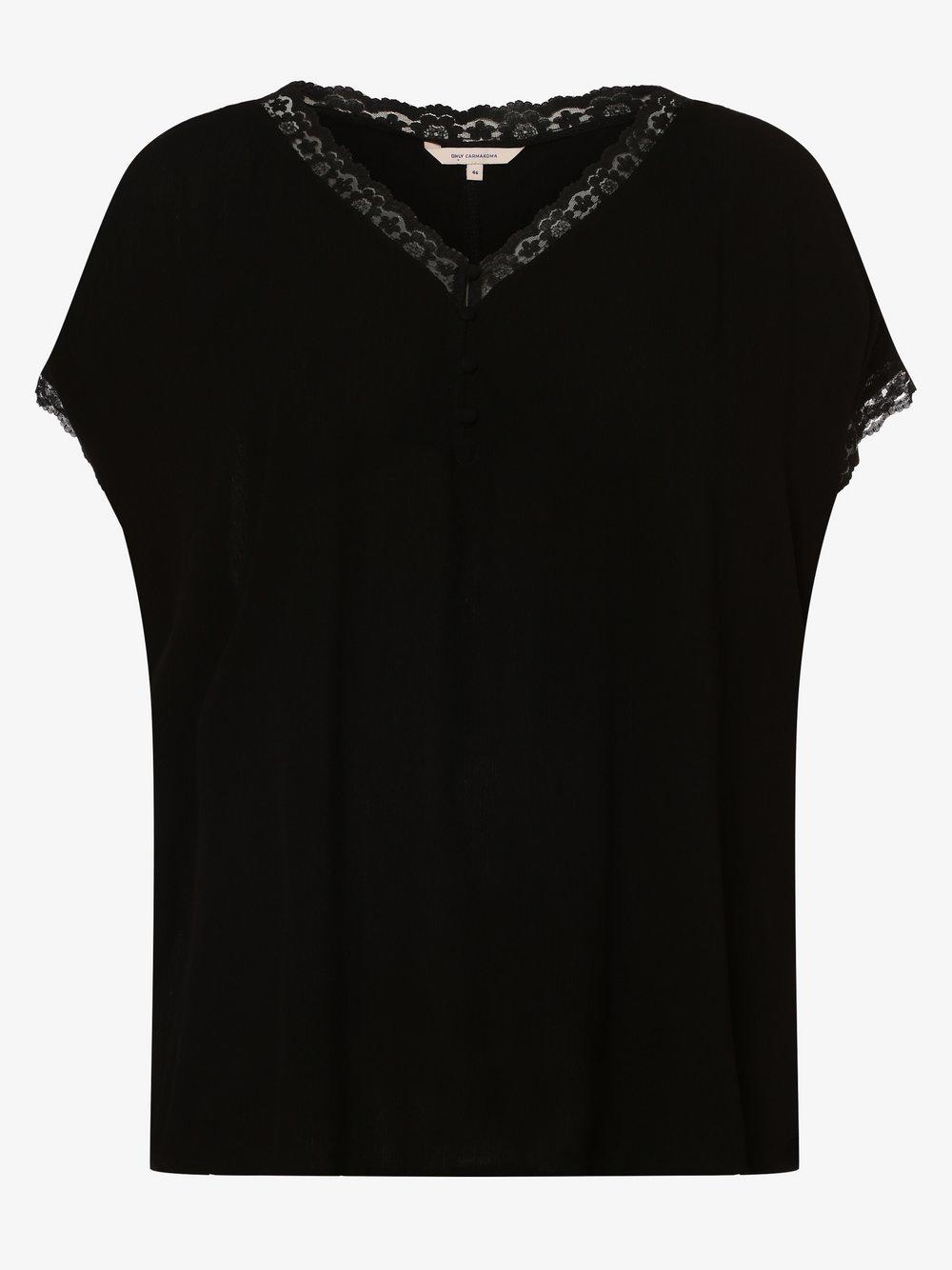 ONLY Carmakoma – Koszulka damska – Carmio, czarny Van Graaf 476901-0001-00480