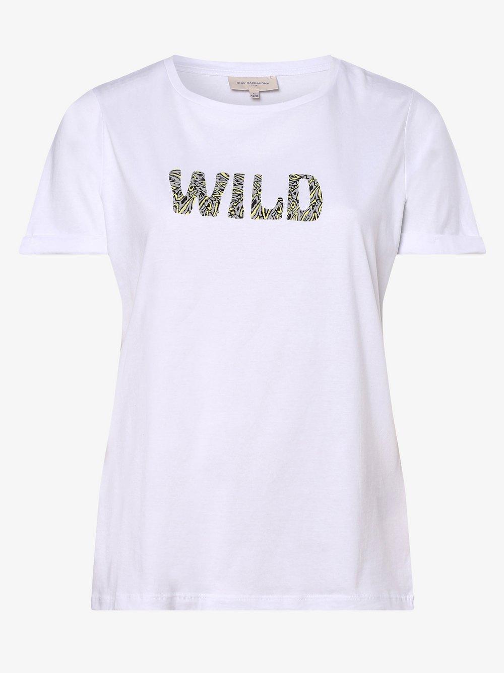 ONLY Carmakoma – T-shirt damski – Carbia, biały Van Graaf 476902-0001