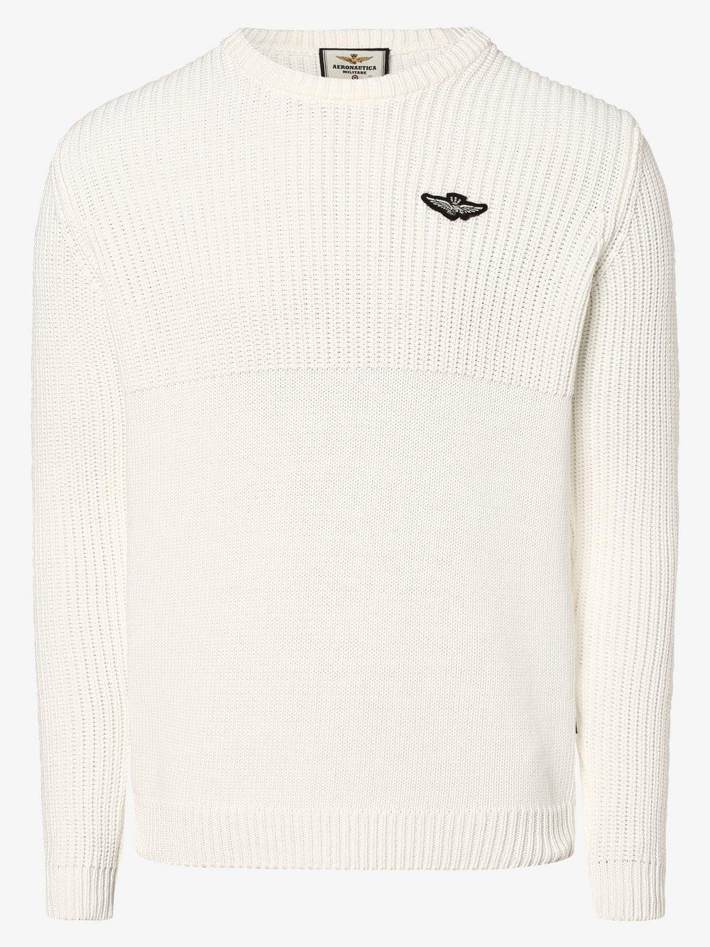 Aeronautica – Sweter męski, biały Van Graaf 477199-0001-09920