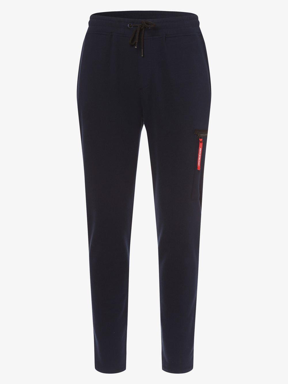 Aeronautica – Spodnie dresowe męskie, niebieski Van Graaf 477202-0001