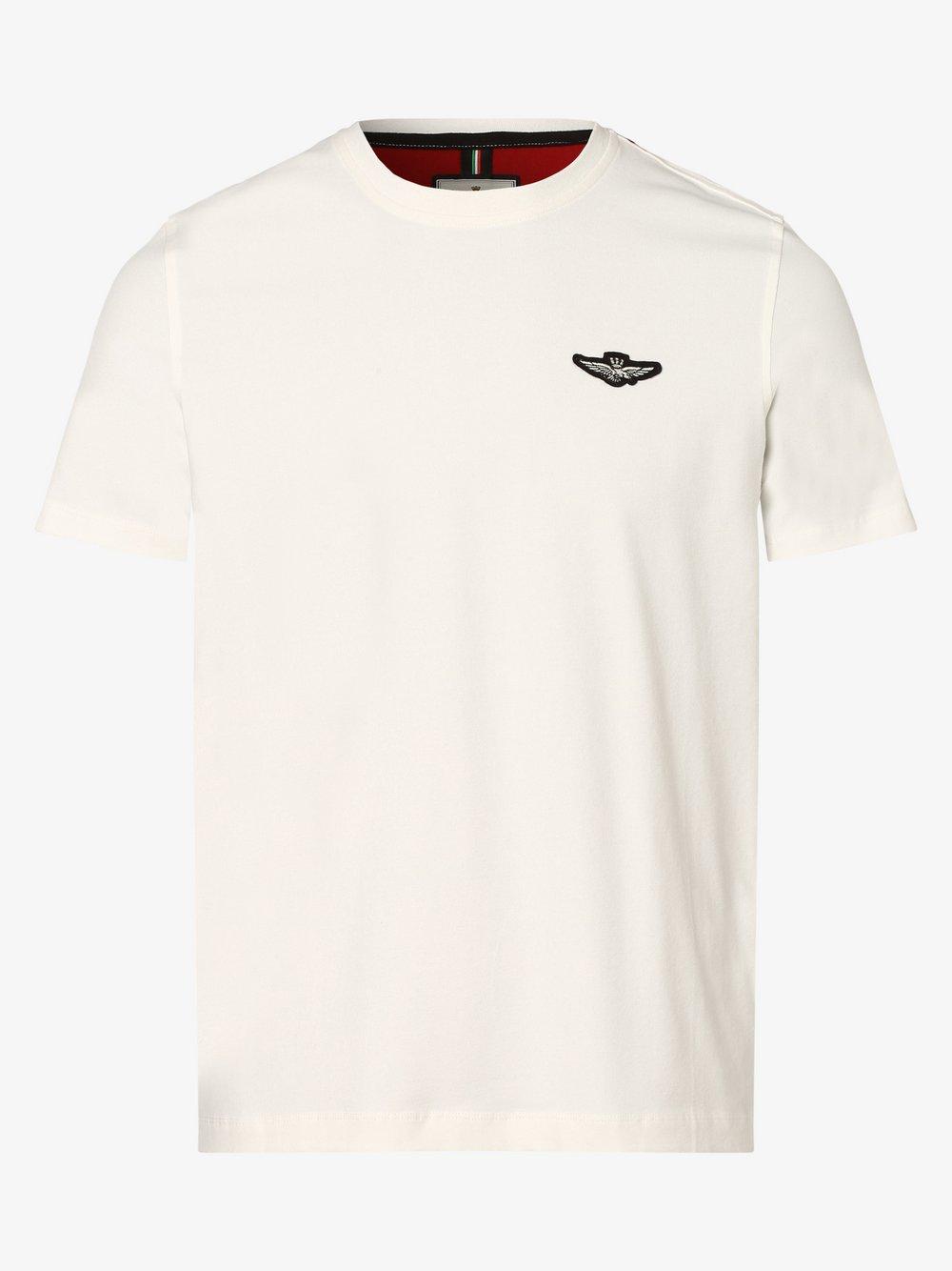 Aeronautica – T-shirt męski, biały Van Graaf 477204-0003-09920
