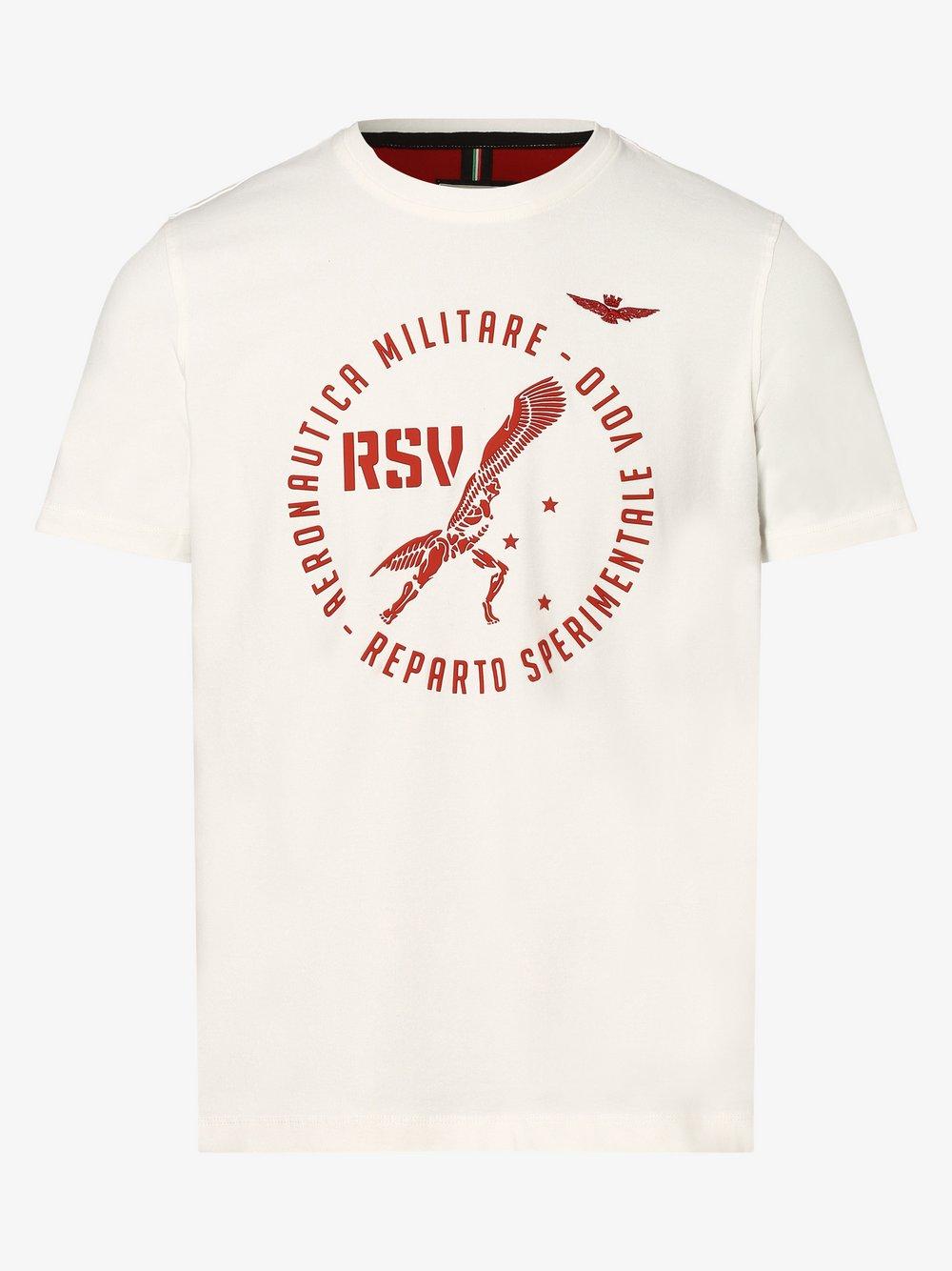 Aeronautica – T-shirt męski, biały Van Graaf 477205-0002-09970