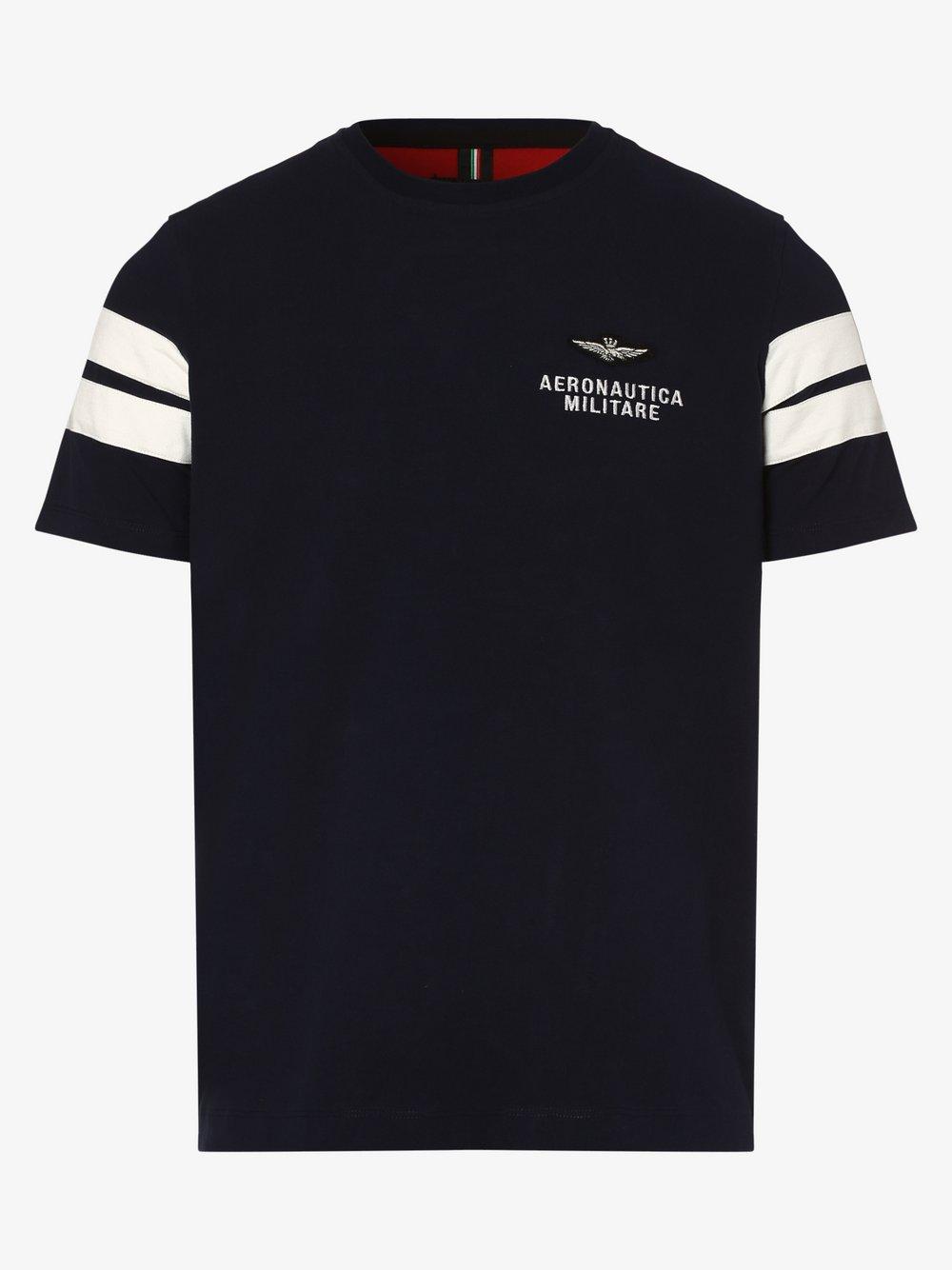 Aeronautica – T-shirt męski, niebieski Van Graaf 477207-0001-09920