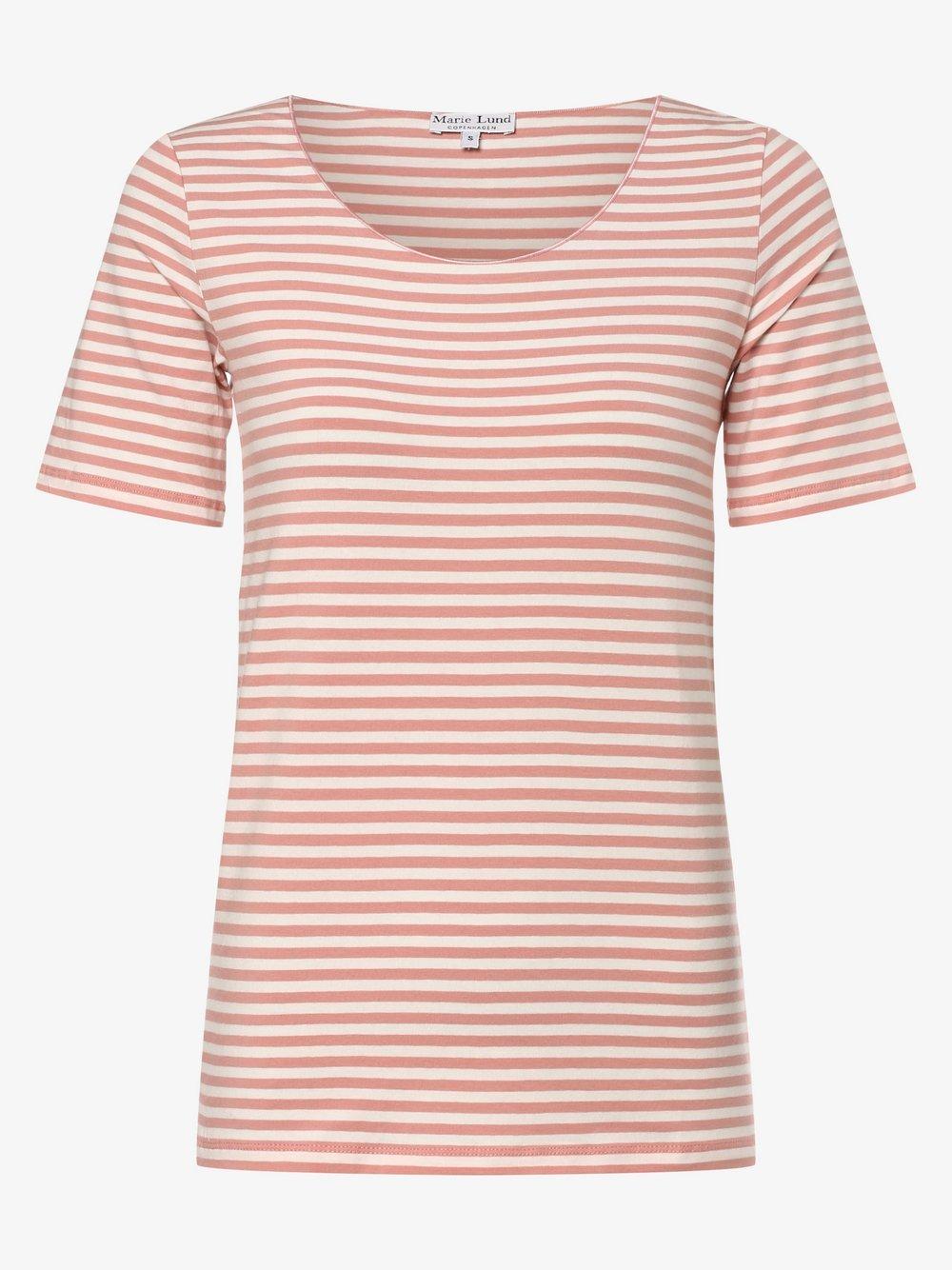 Marie Lund - T-shirt damski, różowy