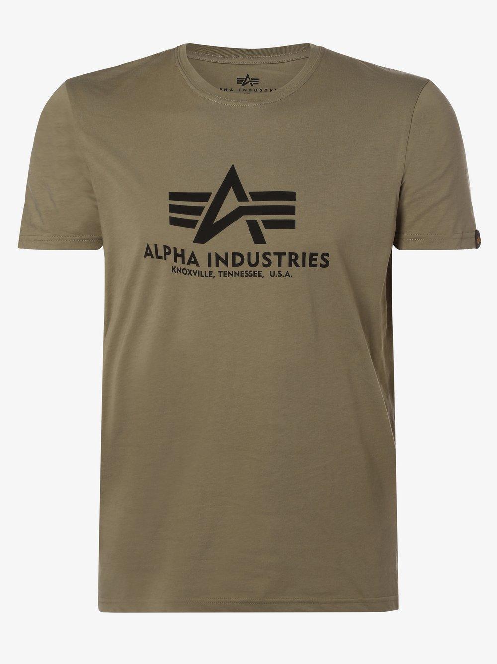 Alpha Industries - T-shirt męski, zielony