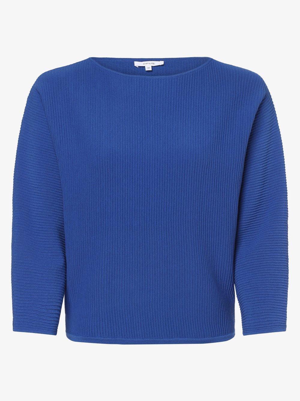 Opus - Sweter damski – Piika, niebieski