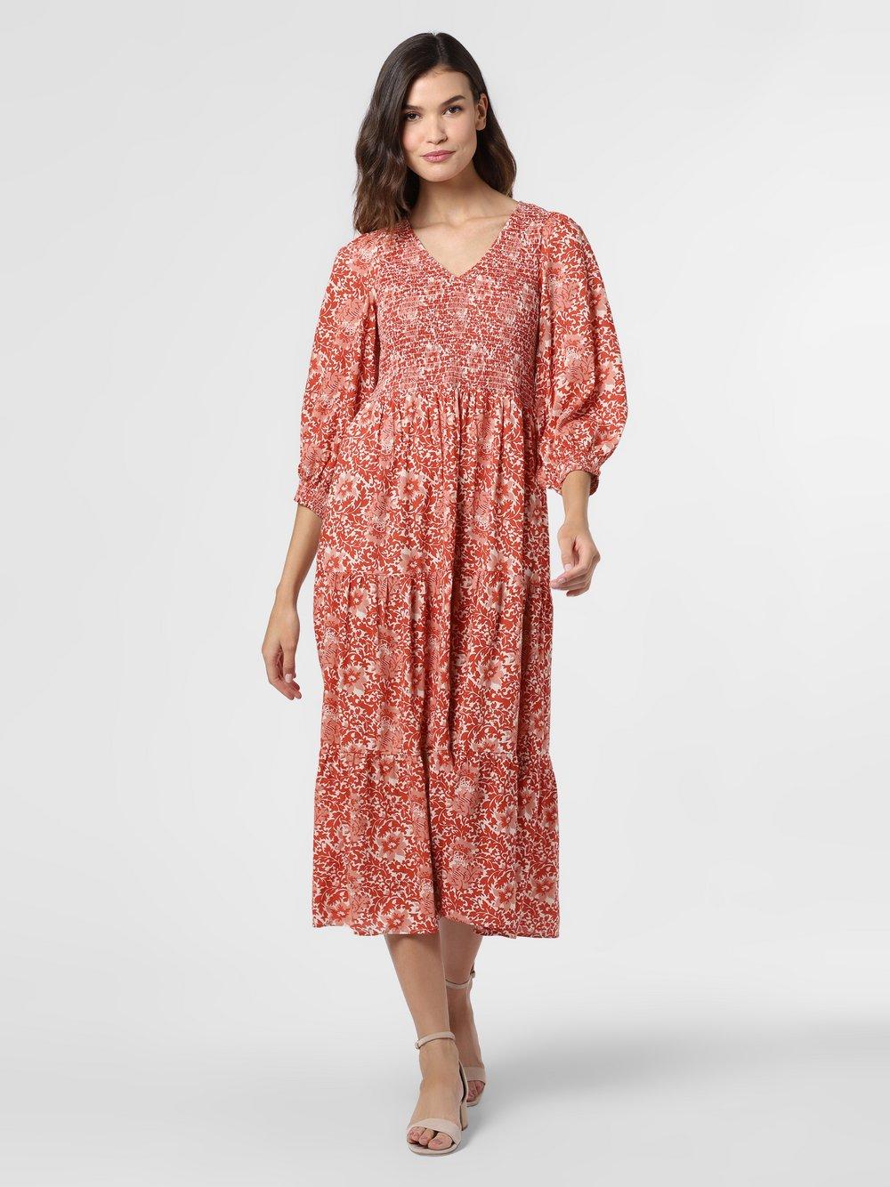 Y.A.S – Sukienka damska – YASDamask, pomarańczowy Van Graaf 477532-0001-09960