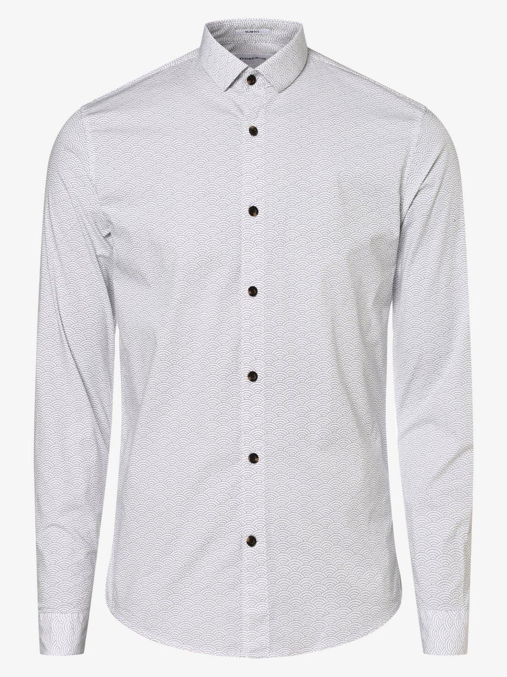 Lindbergh – Koszula męska, biały Van Graaf 477580-0001-09920