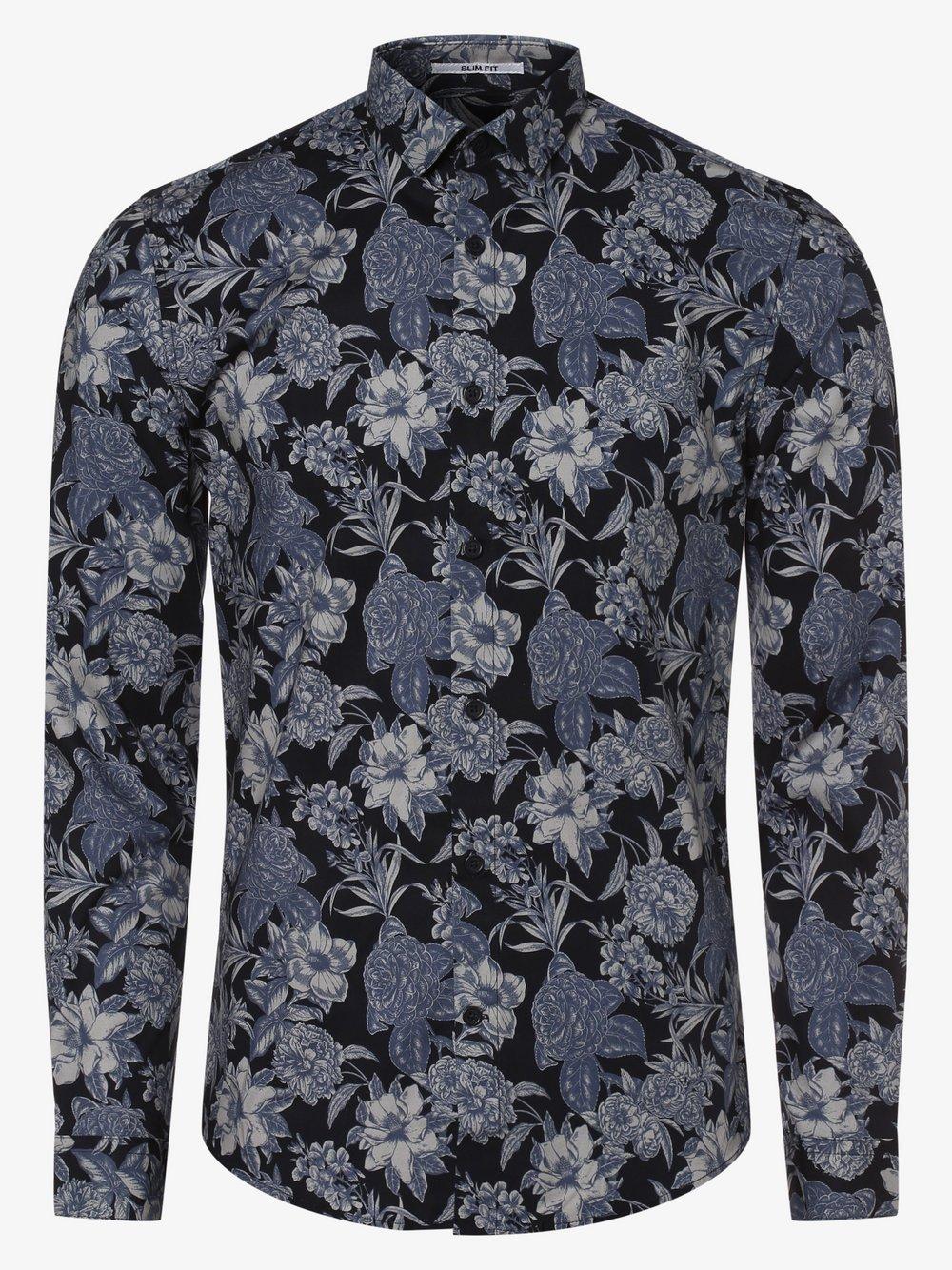 Lindbergh – Koszula męska, niebieski Van Graaf 477581-0001-09940
