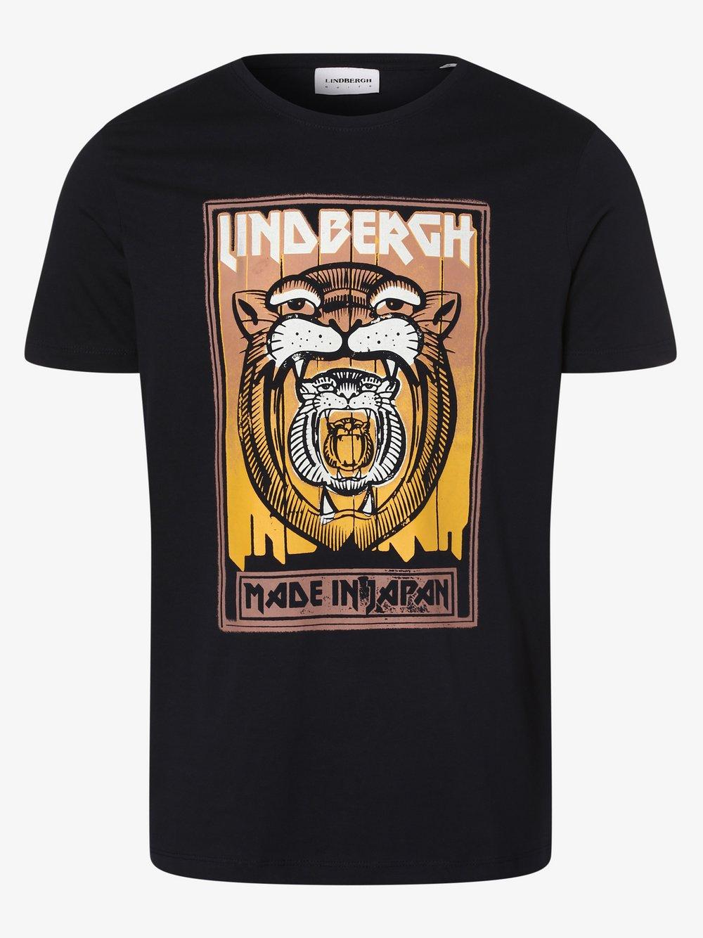Lindbergh – T-shirt męski, niebieski Van Graaf 477588-0001-09900