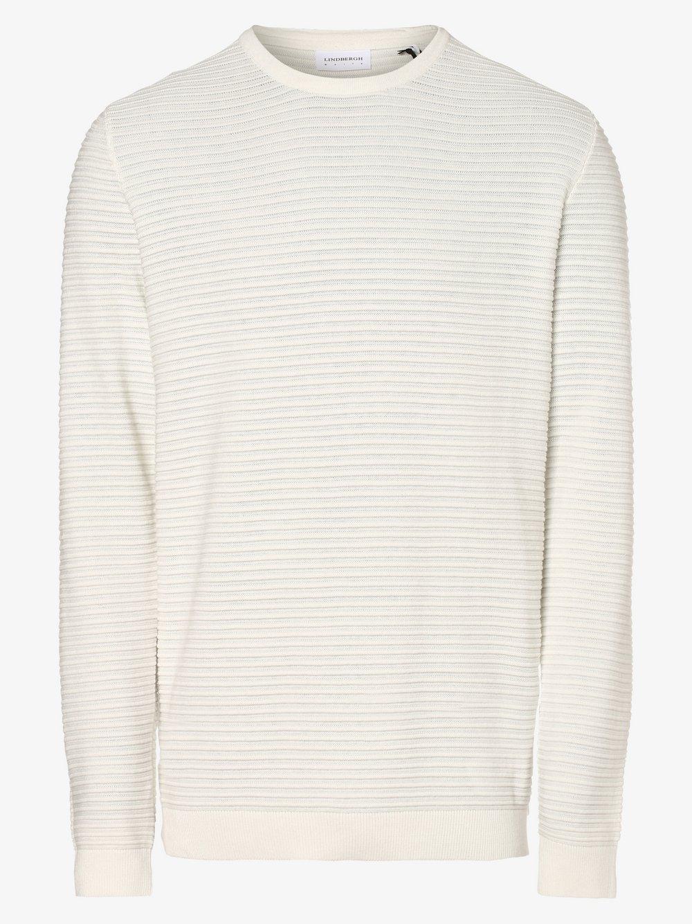 Lindbergh – Sweter męski, biały Van Graaf 477592-0001
