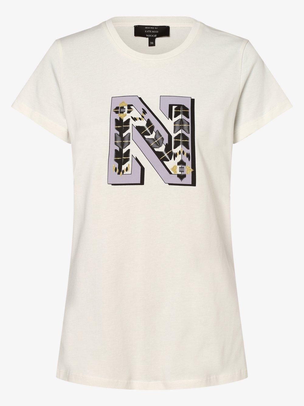 NIKKIE – T-shirt damski, biały Van Graaf 477623-0001-00340