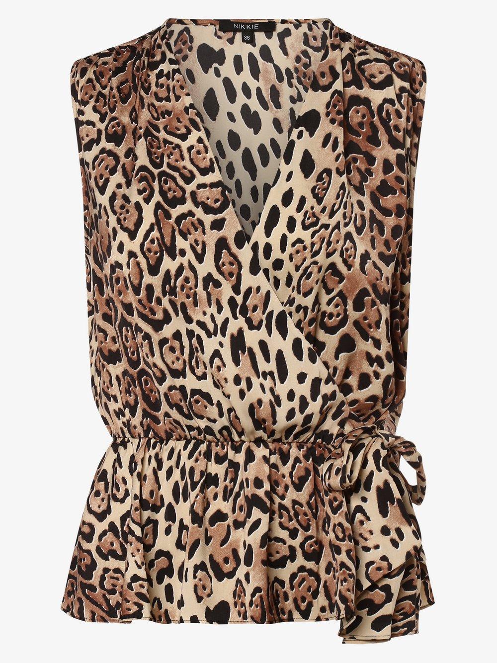 NIKKIE – Damska bluzka bez rękawów – Lucy, beżowy Van Graaf 477647-0001-00340