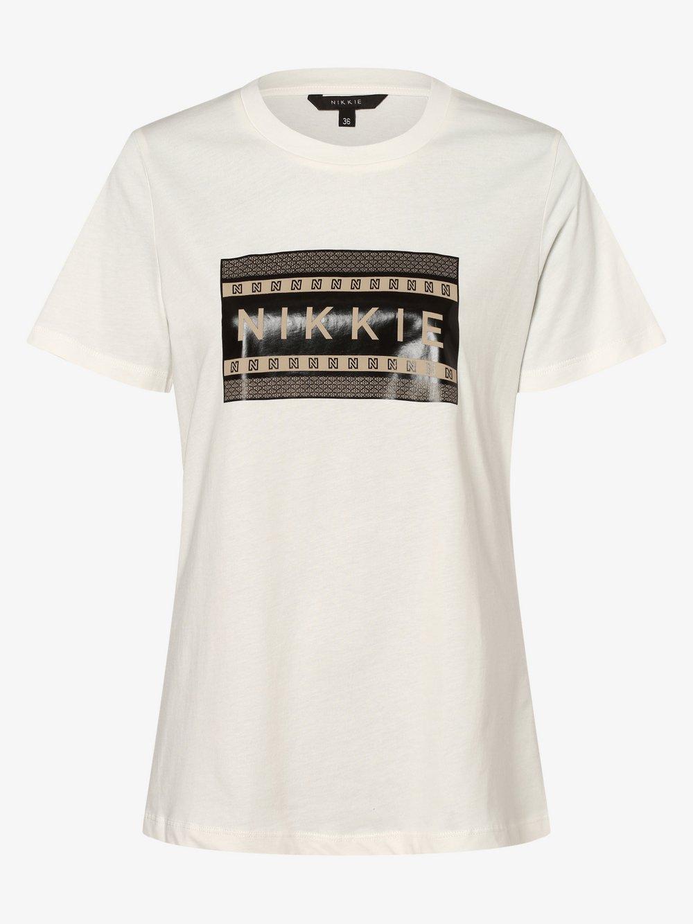 NIKKIE – T-shirt damski, beżowy Van Graaf 477649-0001-00340