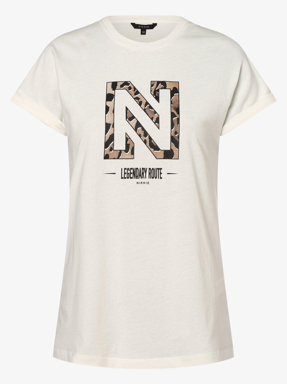 NIKKIE – T-shirt damski – Legendary, beżowy Van Graaf 477654-0001-00360
