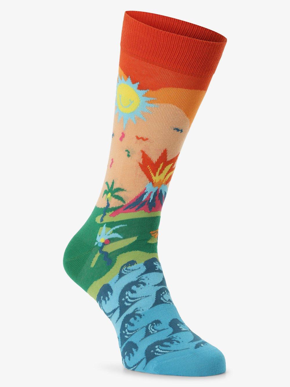 Happy Socks - skarpety z drobnej dzianiny, niebieski