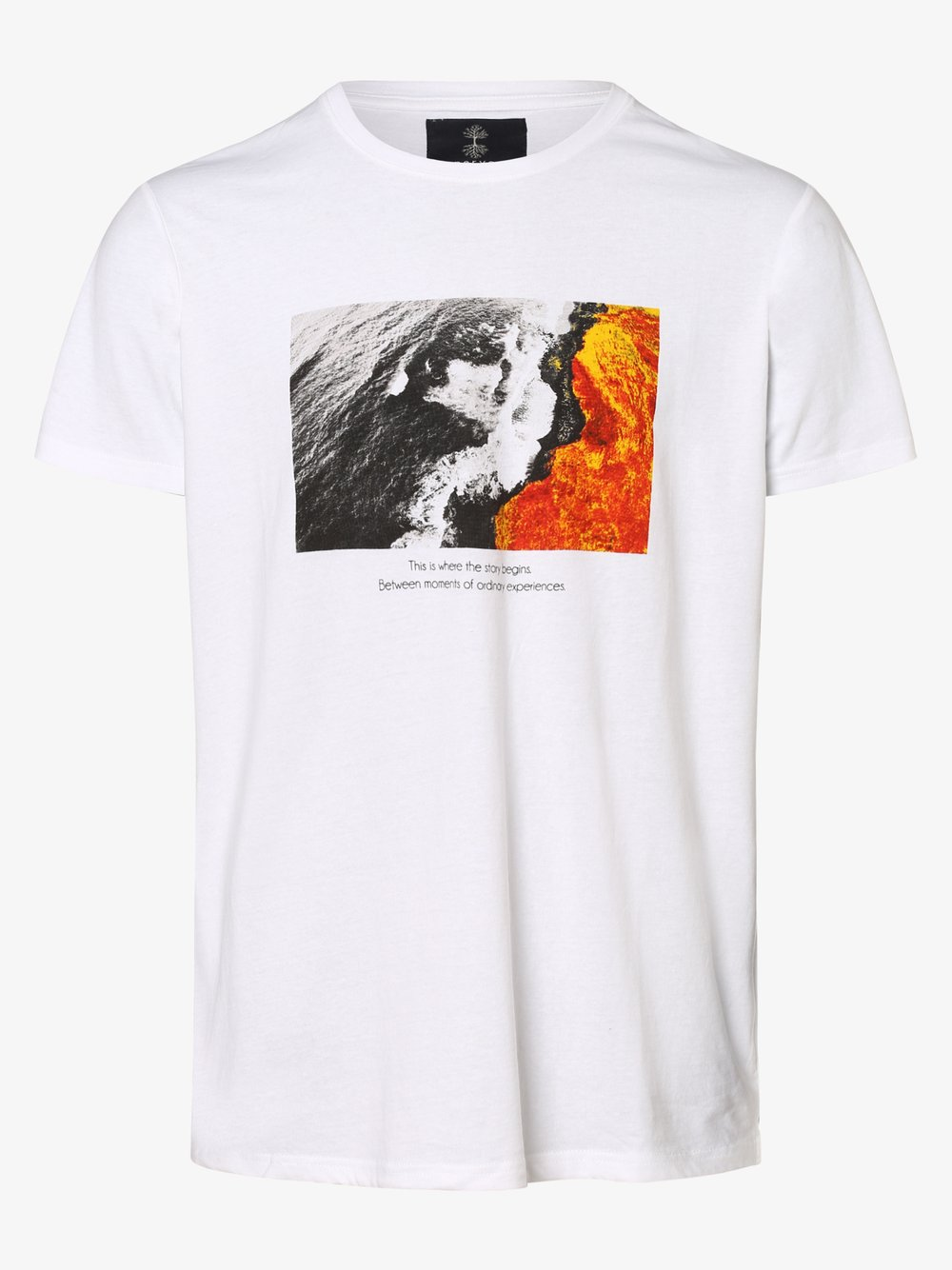 nerve – T-shirt męski – NEDanny, biały Van Graaf 477805-0002-09970
