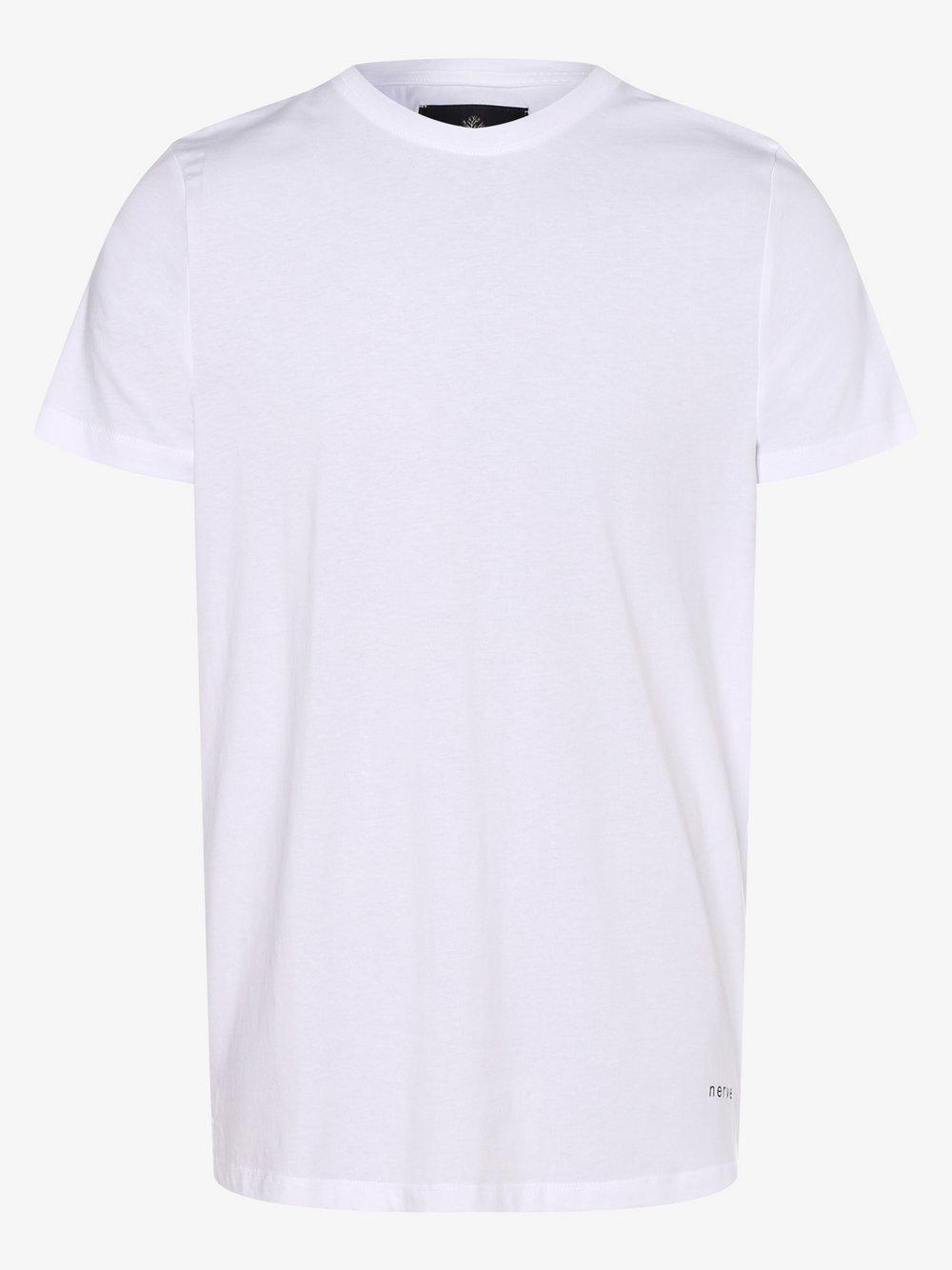 nerve – T-shirt męski – NEJesse, biały Van Graaf 477809-0001-09920