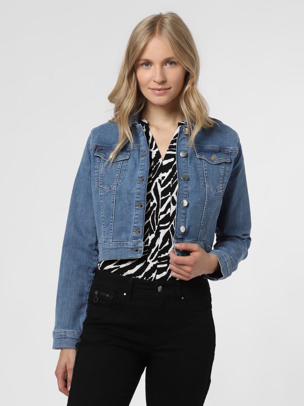 NA-KD – Damska kurtka jeansowa, niebieski Van Graaf 477858-0001-00360