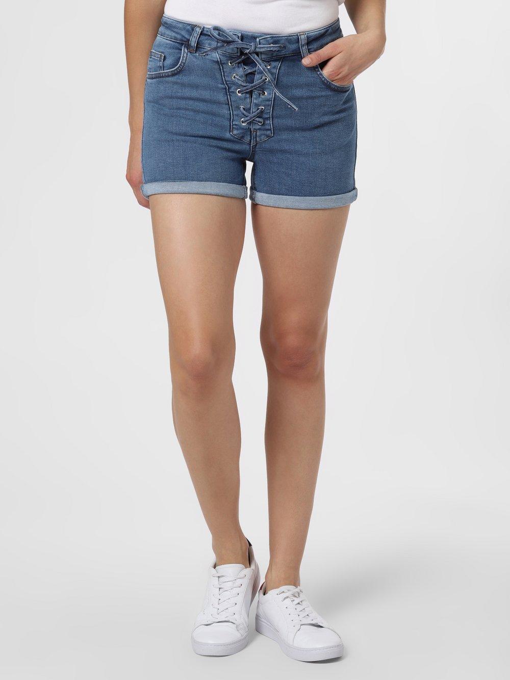 NA-KD – Damskie krótkie spodenki jeansowe, niebieski Van Graaf 477859-0001
