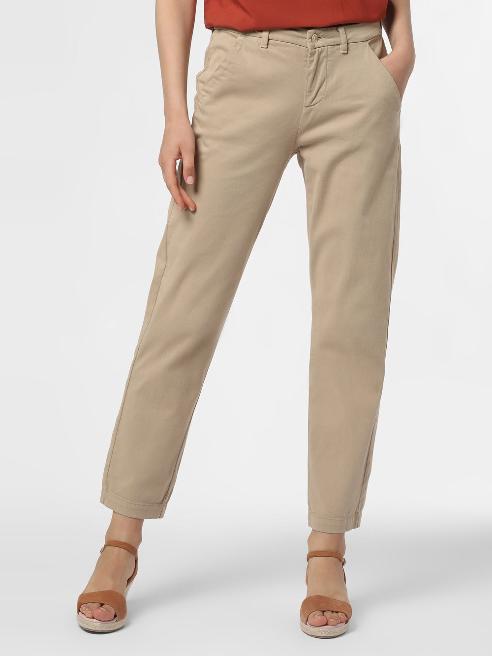 7 For All Mankind – Spodnie damskie – Chino, beżowy Van Graaf 478167-0001-00270