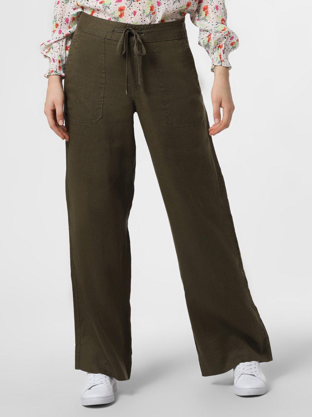 Lauren Ralph Lauren - Damskie spodnie lniane, beżowy