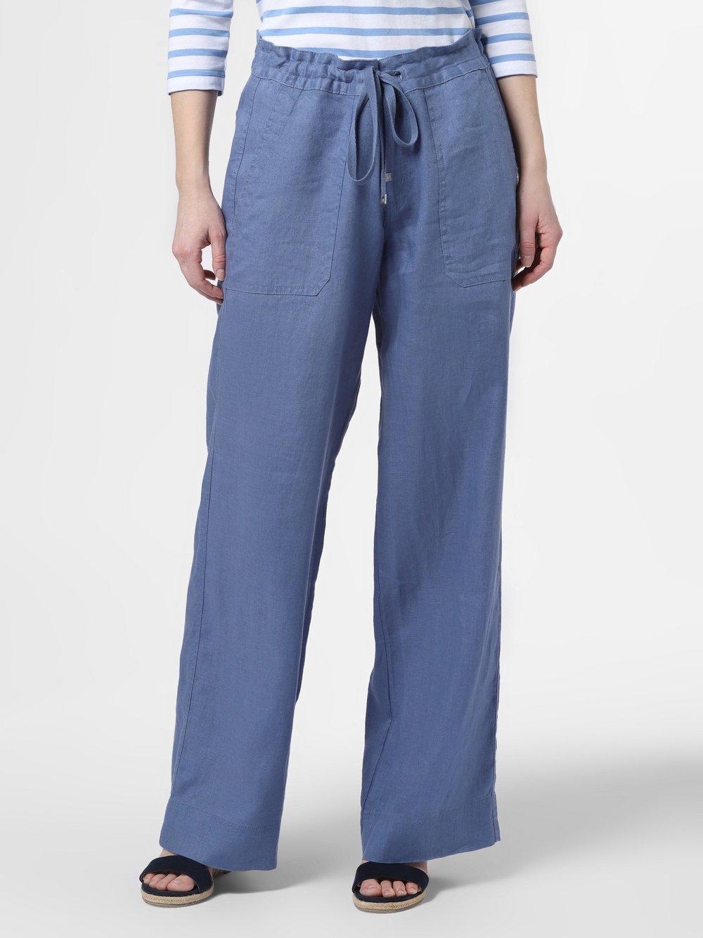 Lauren Ralph Lauren - Damskie spodnie lniane, niebieski