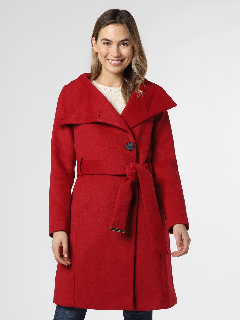 Esprit Collection - Płaszcz damski, czerwony