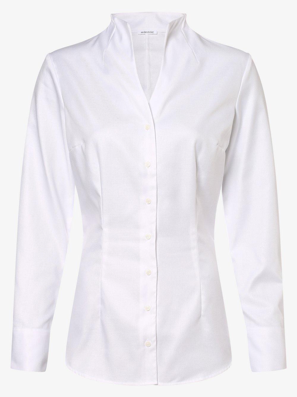 Seidensticker Schwarze Rose – Bluzka damska, biały Van Graaf 478961-0001-00360