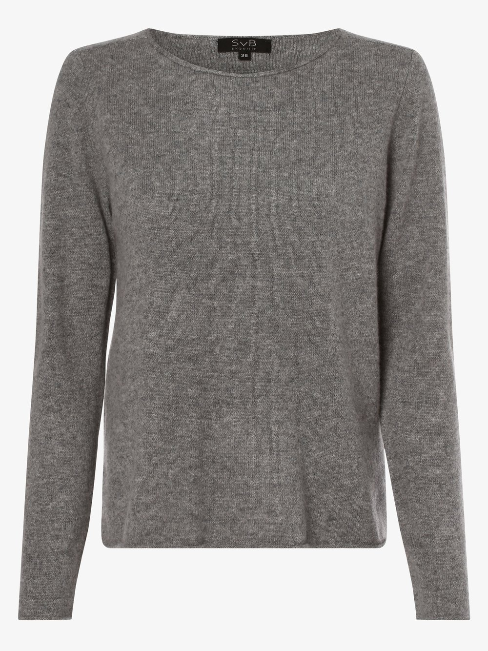SvB Exquisit – Sweter damski z czystego kaszmiru, szary Van Graaf 479051-0002