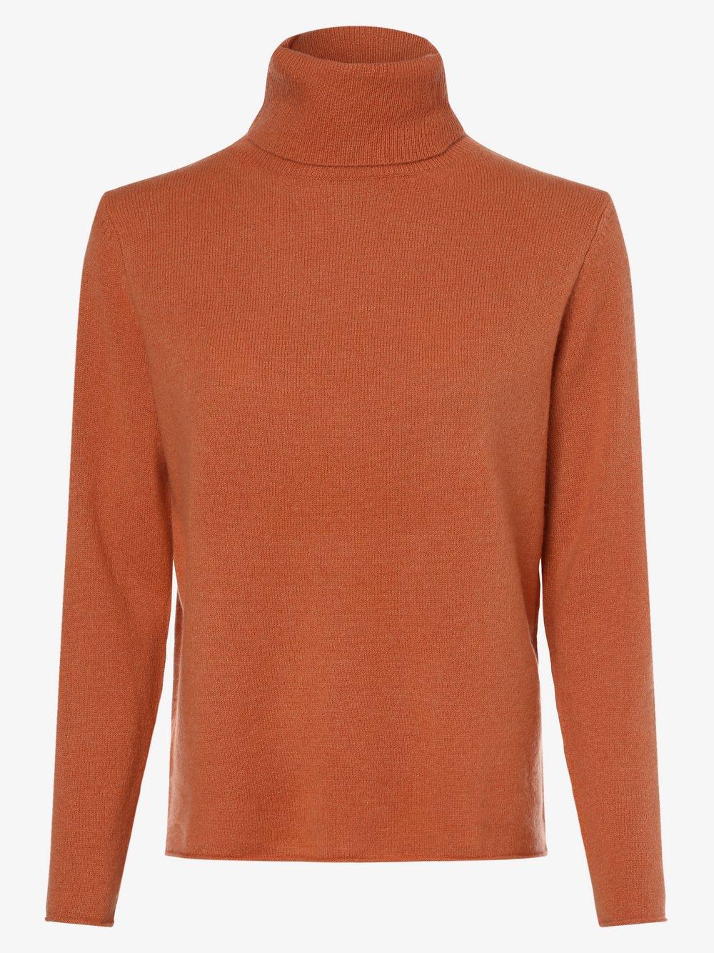 SvB Exquisit – Sweter damski z czystego kaszmiru, pomarańczowy Van Graaf 479054-0003-00380